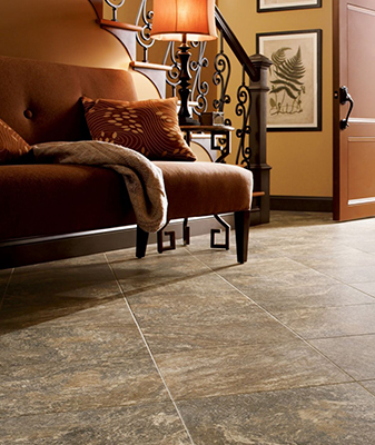 Luxury Vinyl Tile is also waterproof and scratch and stain resistant.