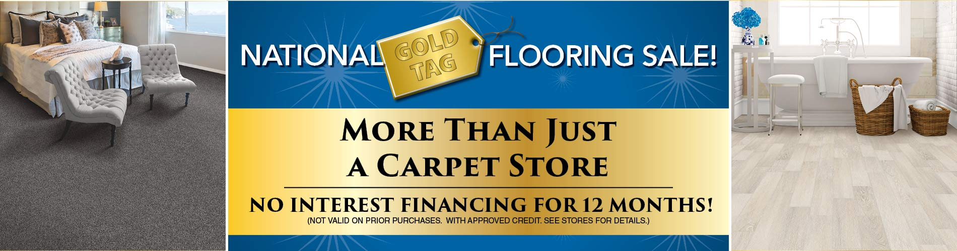 National Gold Tag Flooring Sale at Abbey Carpets Unlimited Design Center